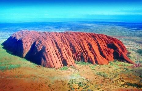 Uluru Australia veduta aerea