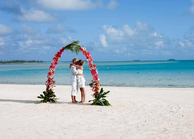 Sposi sulla spiaggia, Isole Cook