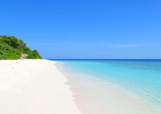 Spiaggia incontaminata Maldive, Ukulhas