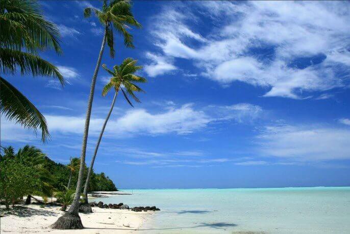 Tereia beach, Maupiti, Isole della Società, Polinesia Francese