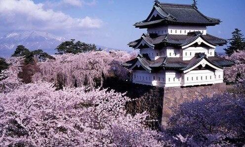 Hirosaki Park, Prefettura di Aomori, Giappone