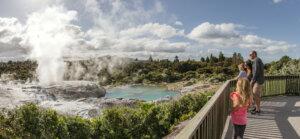 Geyser, Rotorua, Nuova Zelanda