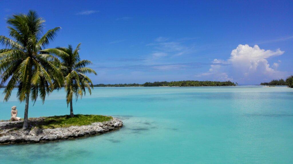 Vista dall'aeroporto di Bora Bora