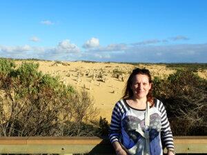 Irene di Kia Ora Viaggi nel Deserto dei Pinnacoli_Australia
