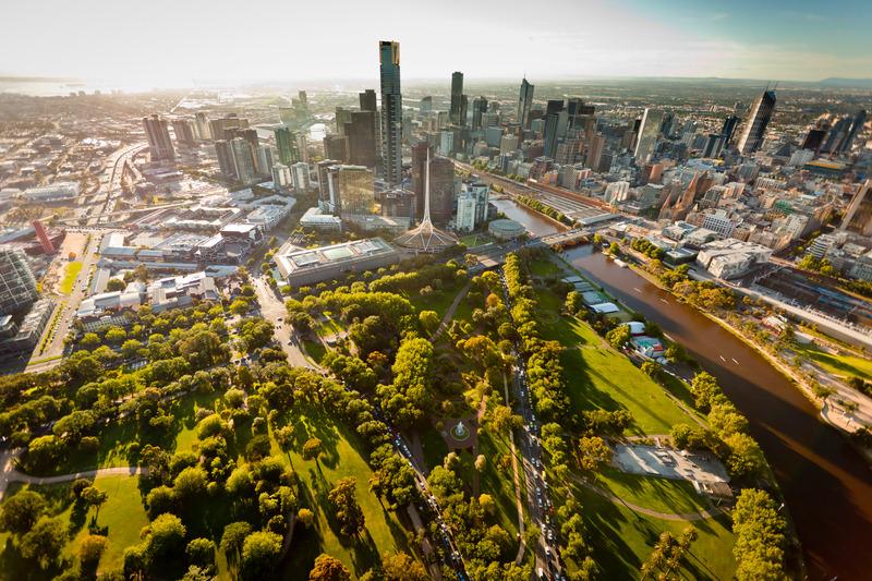 Australia Melbourne Skyline Victoria