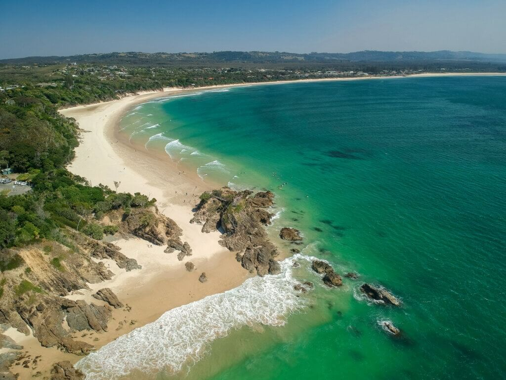 Australia AERIAL VIEW OF THE PASS BYRON BAY New South Wales