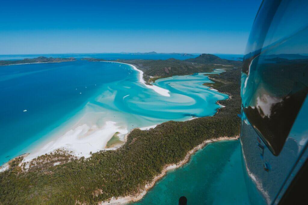 Tropical North Queensland Whitehaven Beach Aerial Australia